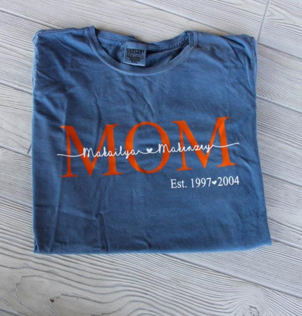 Mom Shirt w/Children's Names