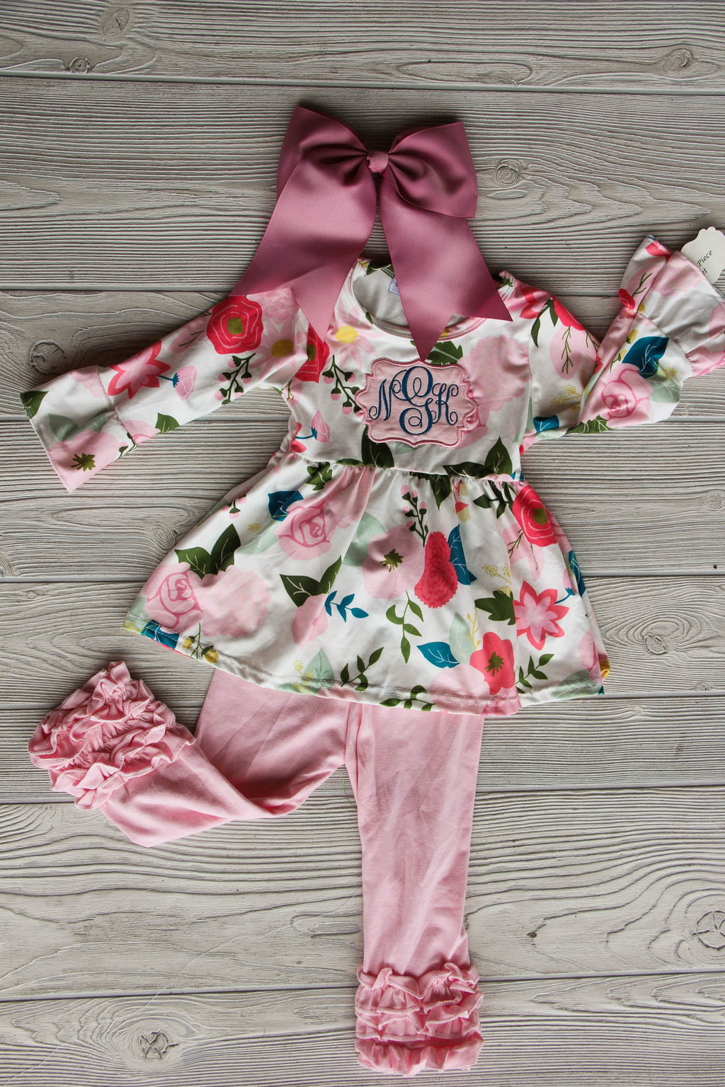 Girl's Floral Spring Outfit Pepper & Oliver