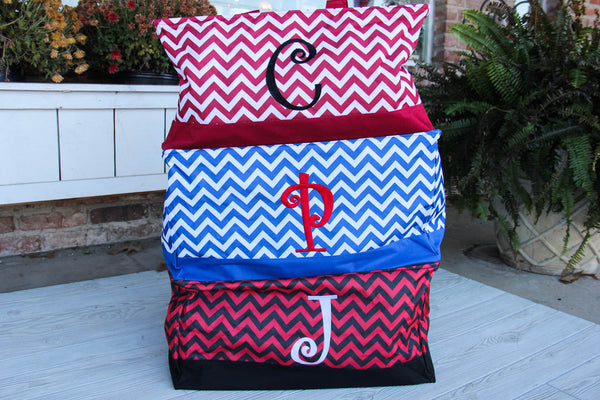Chevron Market Tote with Personalization by Mainstreet Collection