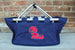 Ole Miss Tote with Monogram Darling Custom Designs
