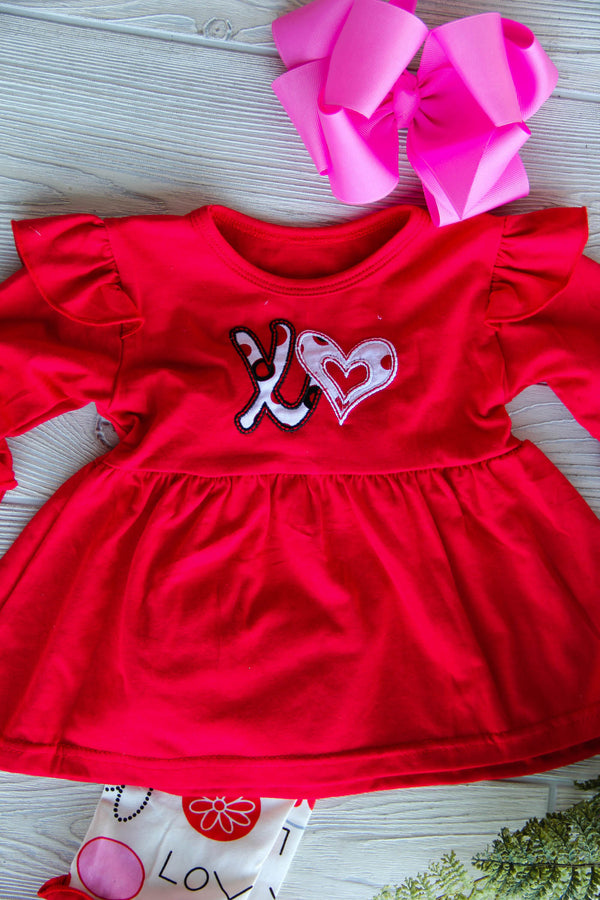 Girls Valentine Tunic - XO's