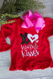 Girls Valentine Shirt - XO's Hugs & Kisses Darling Custom Designs