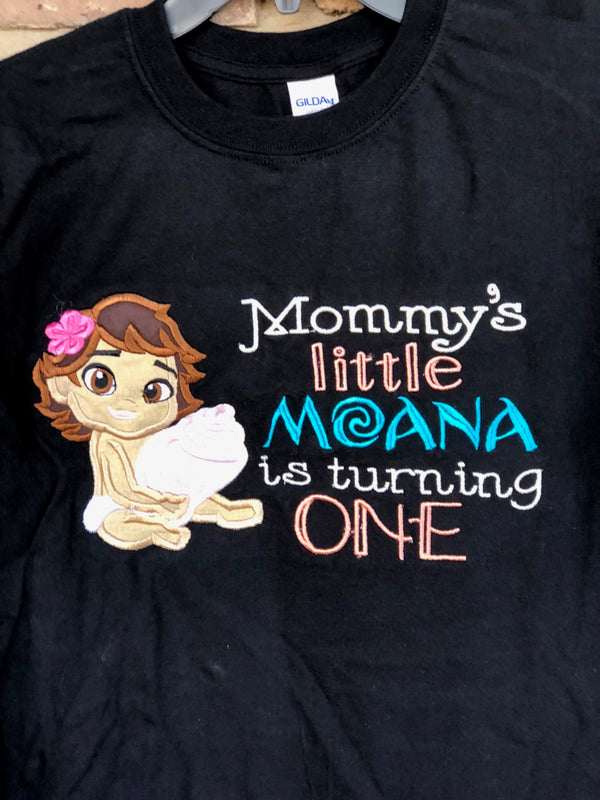 Little Moana Birthday Shirt Set - Family Shirts