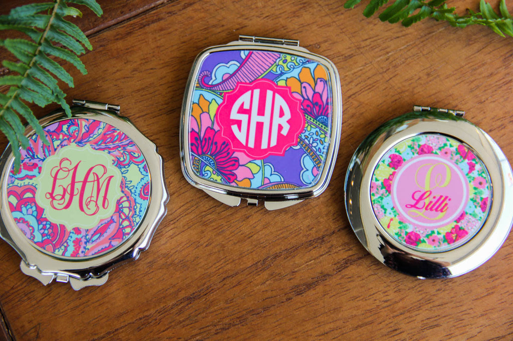 Compact Mirrors w/ Personalization (Collection 1) Darling Custom Designs