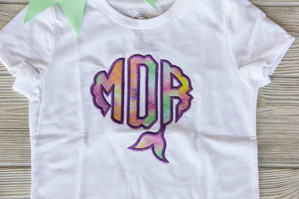 Mermaid Monogram Shirt Darling Custom Designs