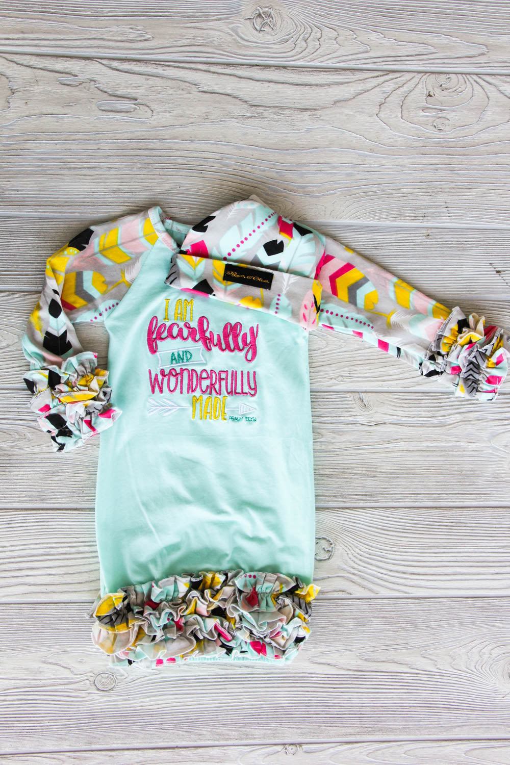 I am Fearfully & Wonderfully Made Newborn Gown