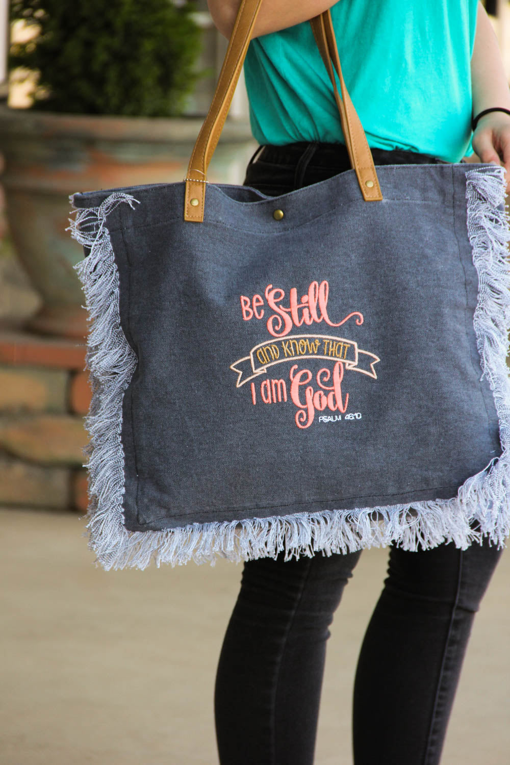 """Be Still and Know That I am God"" Tote Bag"