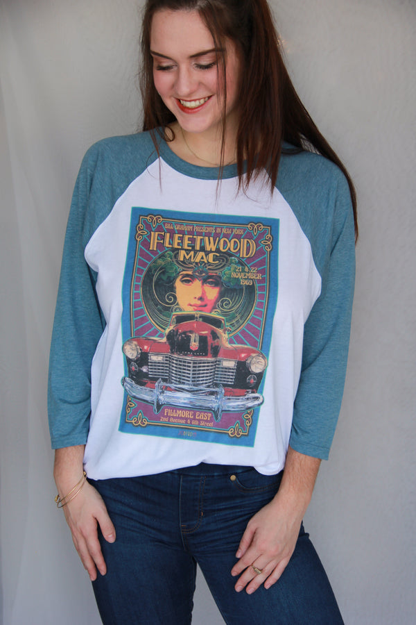 Vintage Fleetwood Mac Concert Poster Tee Darling Custom Designs
