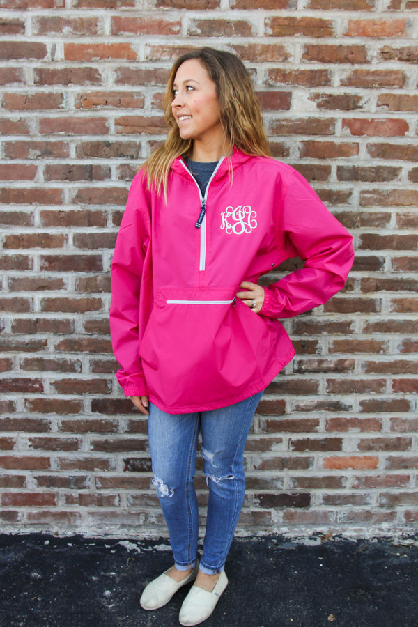 Charles River Pack-N-Go Pullover w/ Monogram