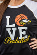 Eagles LOVE Basketball Tee Darling Custom Designs