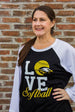 Eagles LOVE Softball Tee