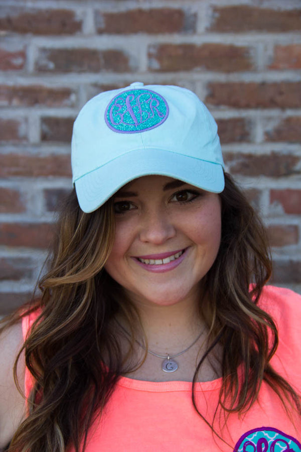 Hat w/ Glitter and Monogram