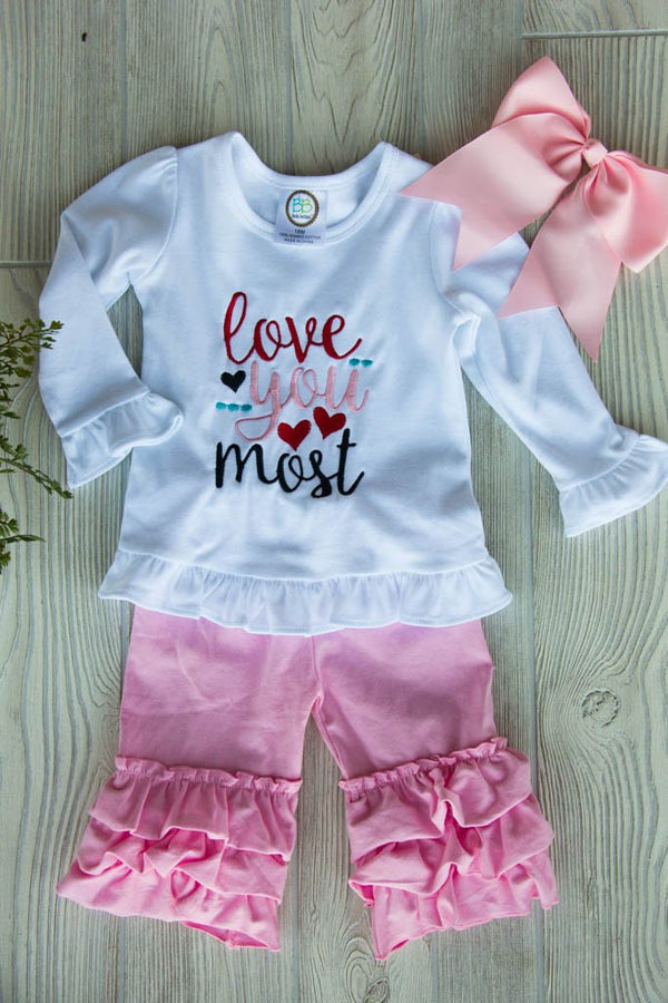Love You Most Outfit Set