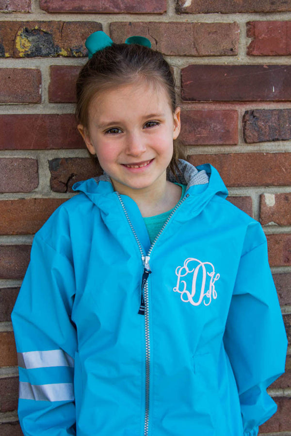 Children's Charles River Rain Jacket w/ Monogram