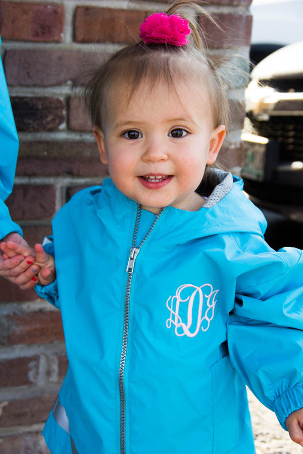 Toddlers Charles River Rain Jacket w/ Monogram