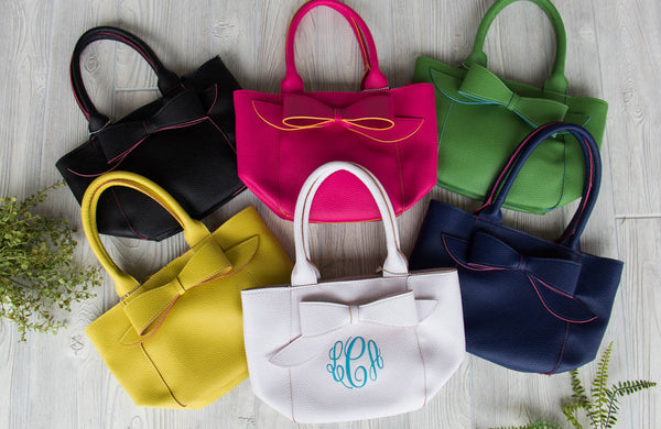 Bow Purse w/ Monogram by Mainstreet Collection