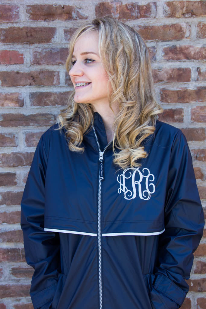 bb8c1df8eb4c Charles River Rain Jacket w  Monogram- Fall Colors – Darling Custom ...