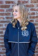 Charles River Rain Jacket w/ Monogram- Fall Colors True NavyCharles River Rain Jacket w/ Monogram- Fall Colors