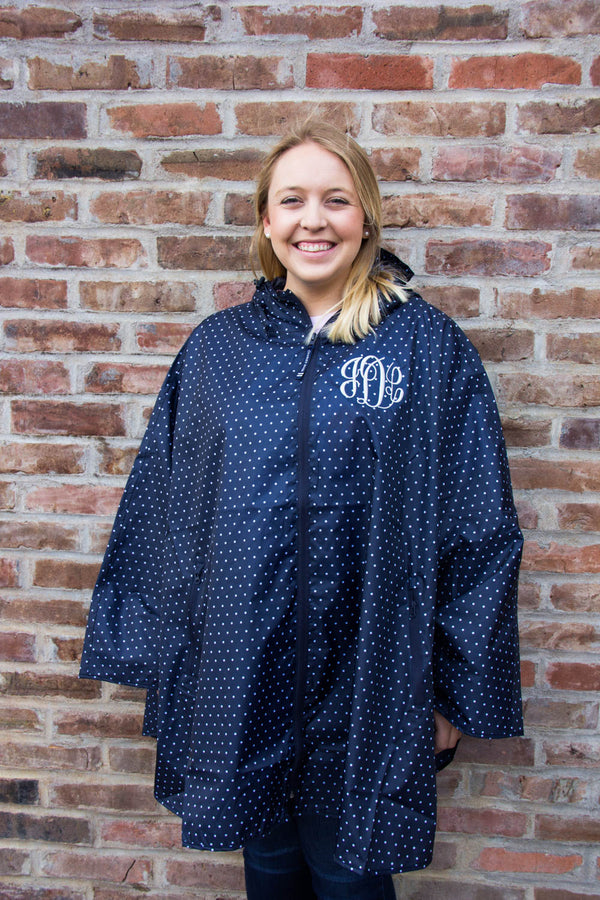 Women's Polka Dot Pack-N-Go Poncho w/ Monogram