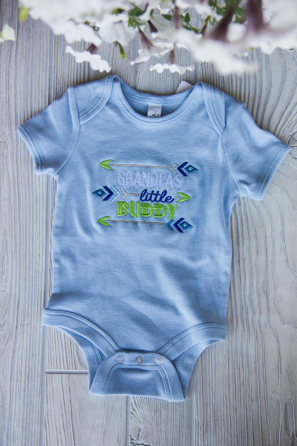 Grandpa's Little Buddy Onesie and Bib