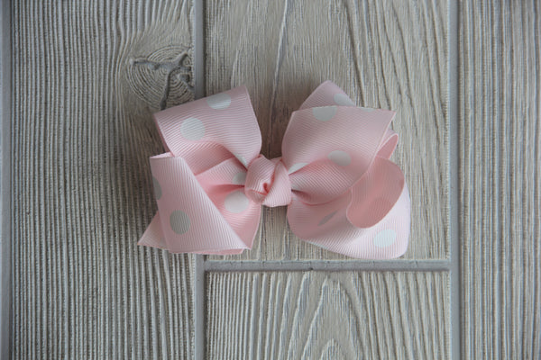 Pink Polka Dot Everyday Bow