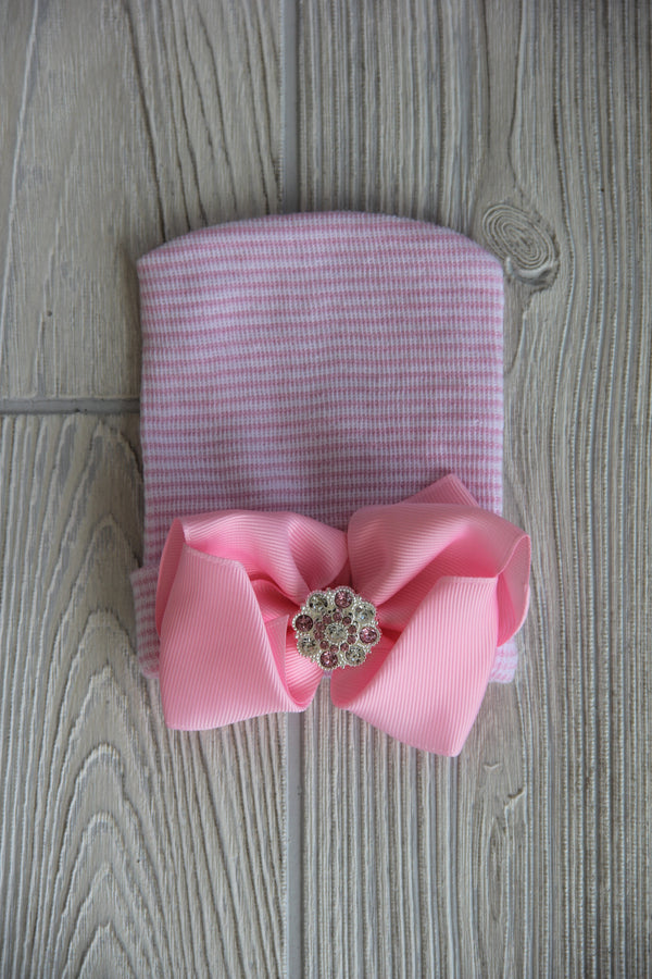 Hospital Hat With Blinged Bow