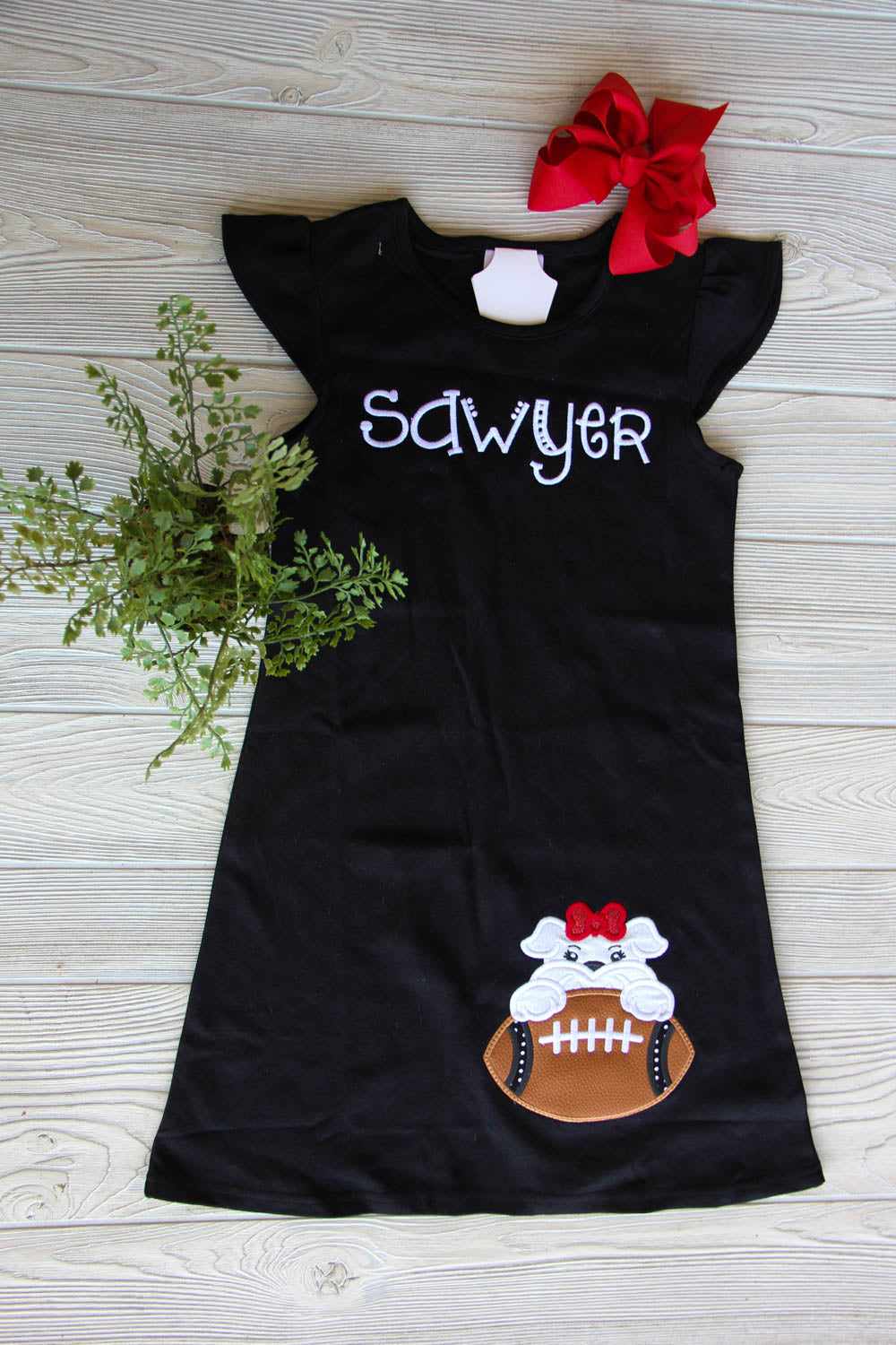 Girls Football Flutter Dress - Georgia Football