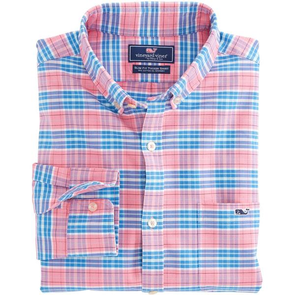 Vineyard Vines Long-Sleeve Slim Tucker Shirt - Island Reach Plaid