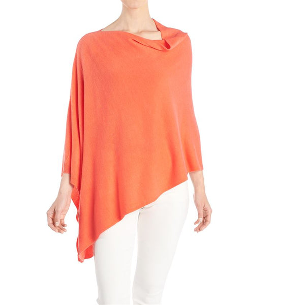Coco + Carmen Solid Lightweight Poncho Melon