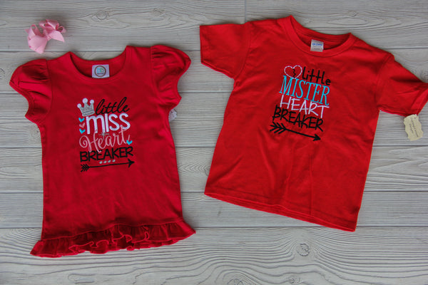 Heart Breaker Sibling Shirt Set