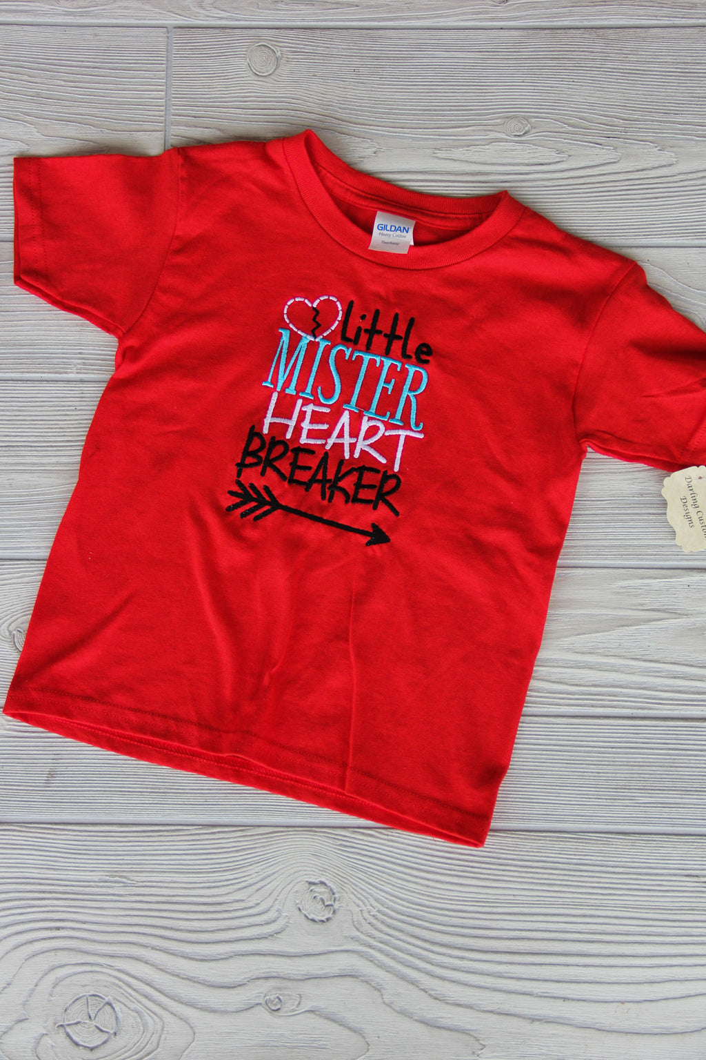 Boy's Heart Breaker Valentine Shirt Darling Custom Designs