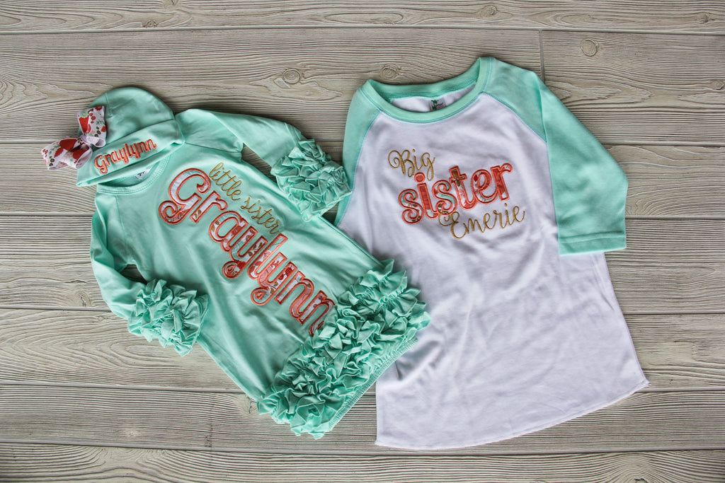 Sister Shirt & Gown Set - Mint