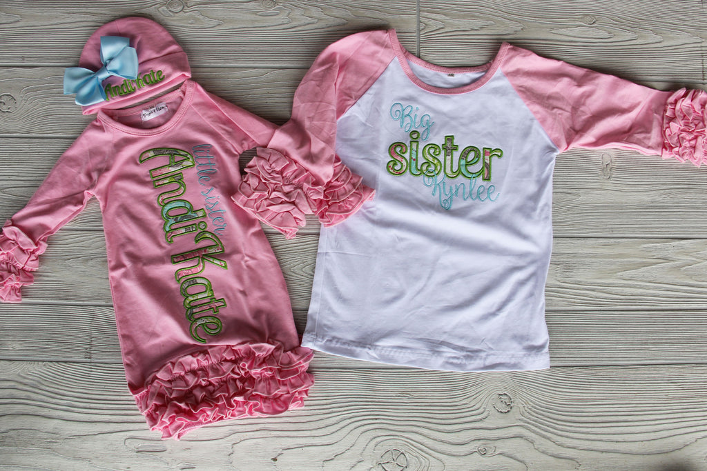 Sister Shirt & Gown Set - Pink