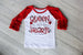 Queen of all the Hearts Raglan Shirt Darling Custom Designs