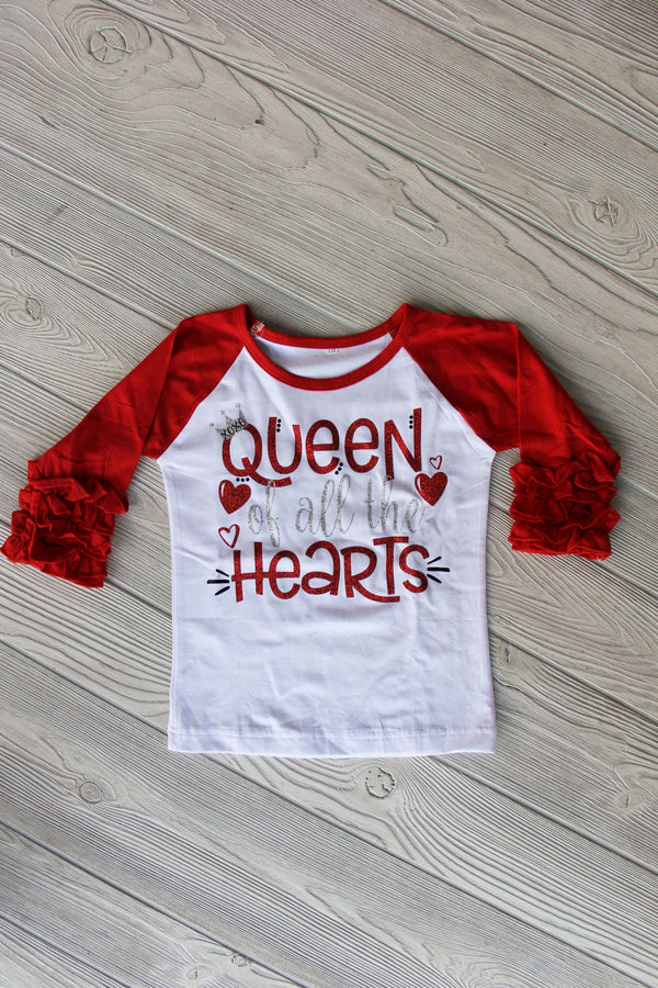 Queen of all the Hearts Raglan Shirt