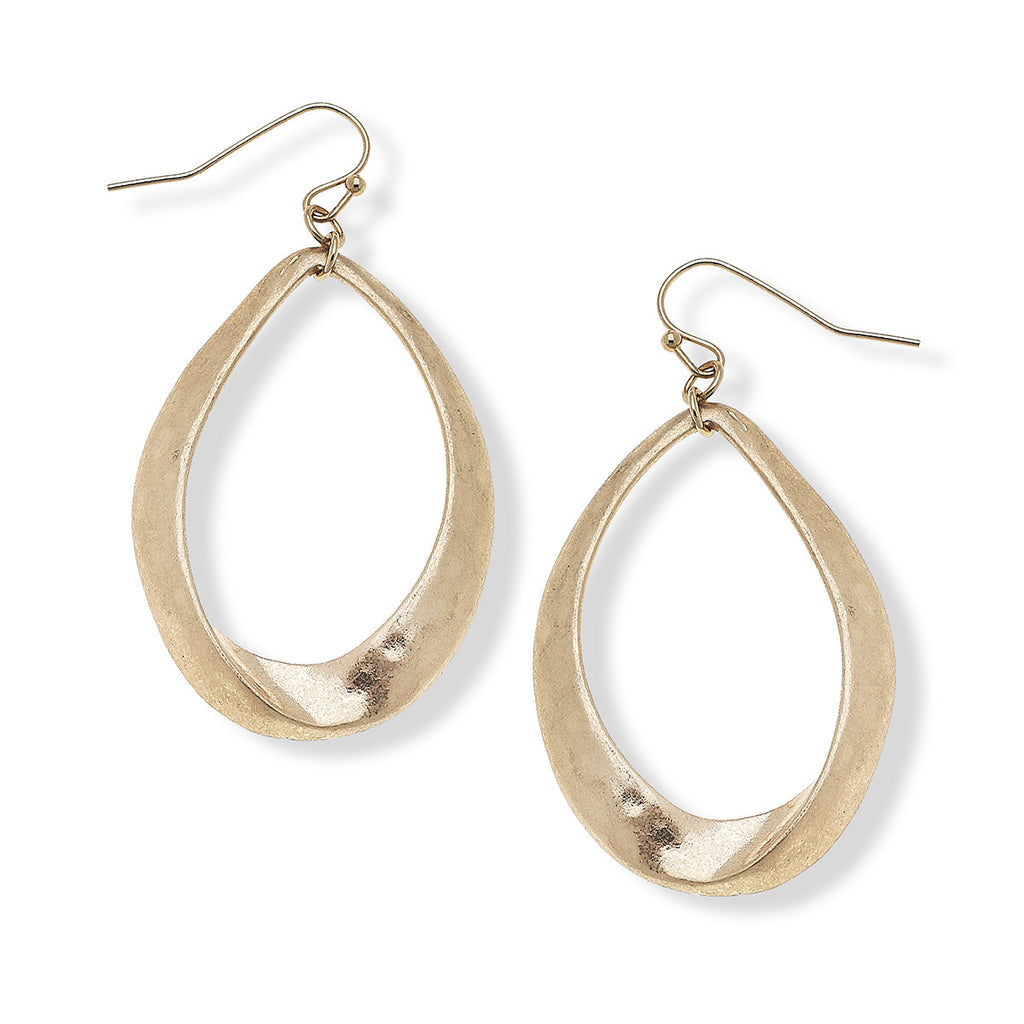 Canvas Style Jewelry Phoebe Earrings in Worn Gold or Worn Silver La Boutique