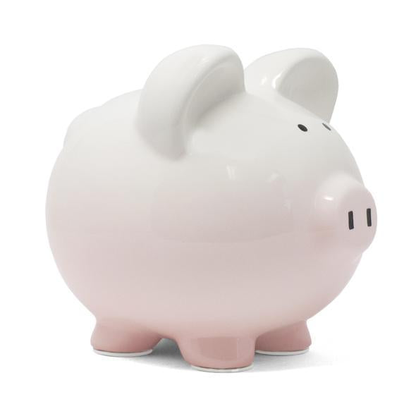 Ombre Pig Banks W/Name by Child to Cherish Pink