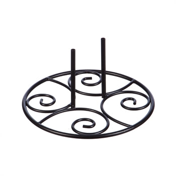 Elegant Swirl Stand Base for Garden Flag Poles or Statement Stakes by Evergreen