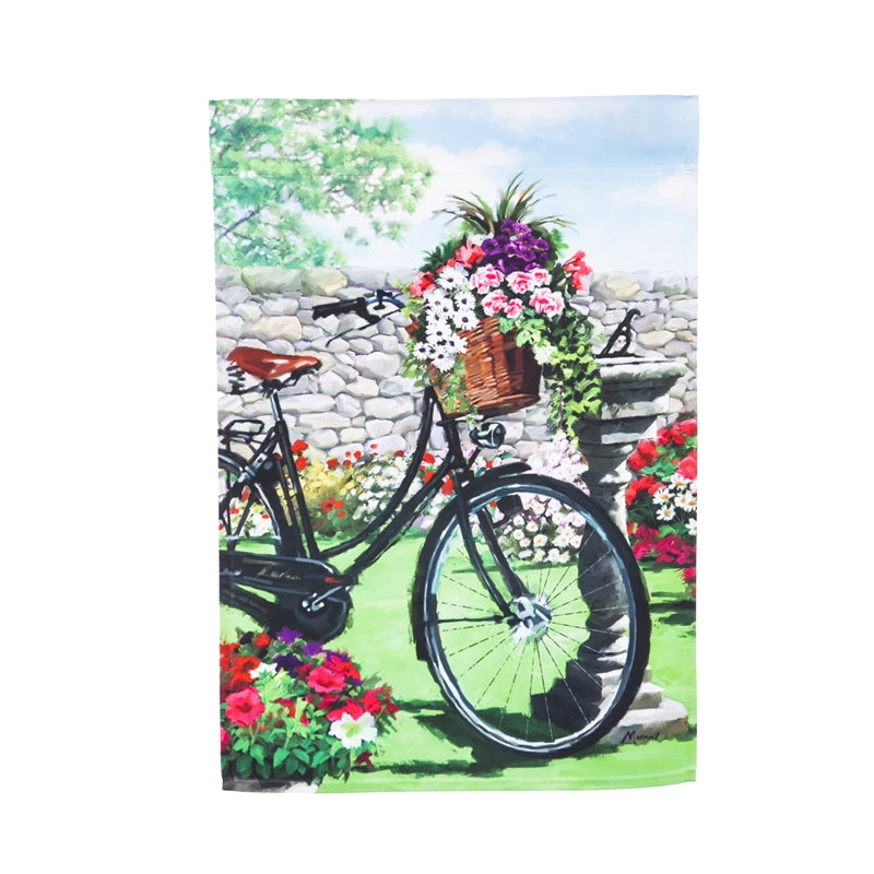 Garden Bicycle Garden Flag by Evergreen La Boutique