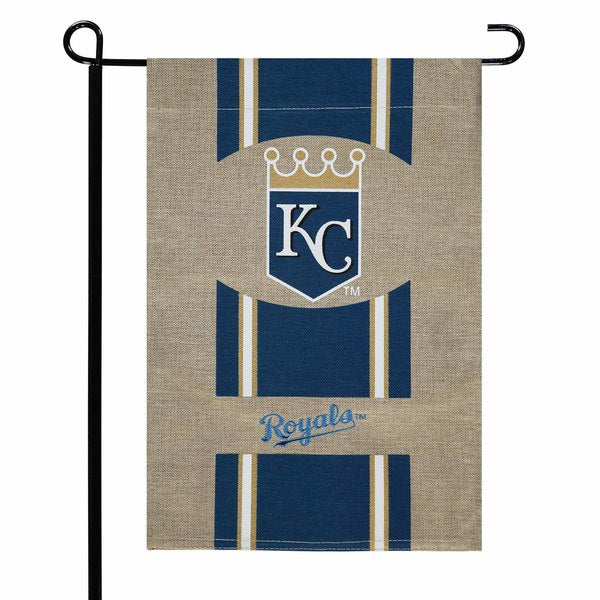 Kansas City Royals Burlap Garden Flag