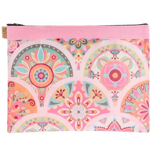 Karma Gifts Carry All Bag Pink Medallion