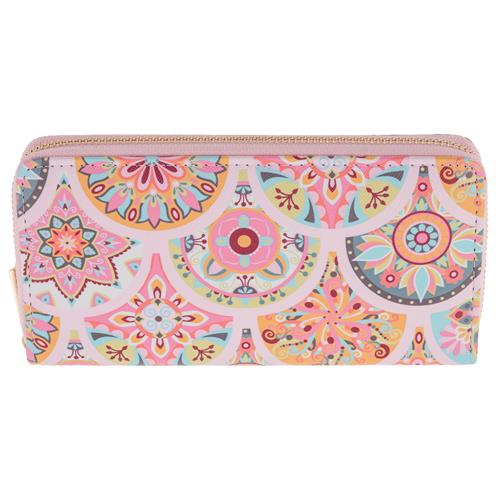 Large Wallets by Karma Gifts Pink Medallion ka-3024-05