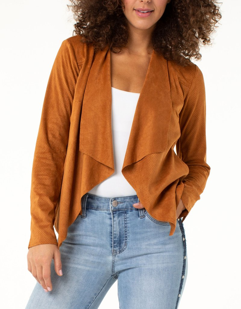 Liverpool Jeans Draped Suede Jacket