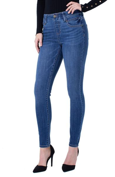Liverpool Gia Glider Pull On Skinny Jeans - Cartersville Wash