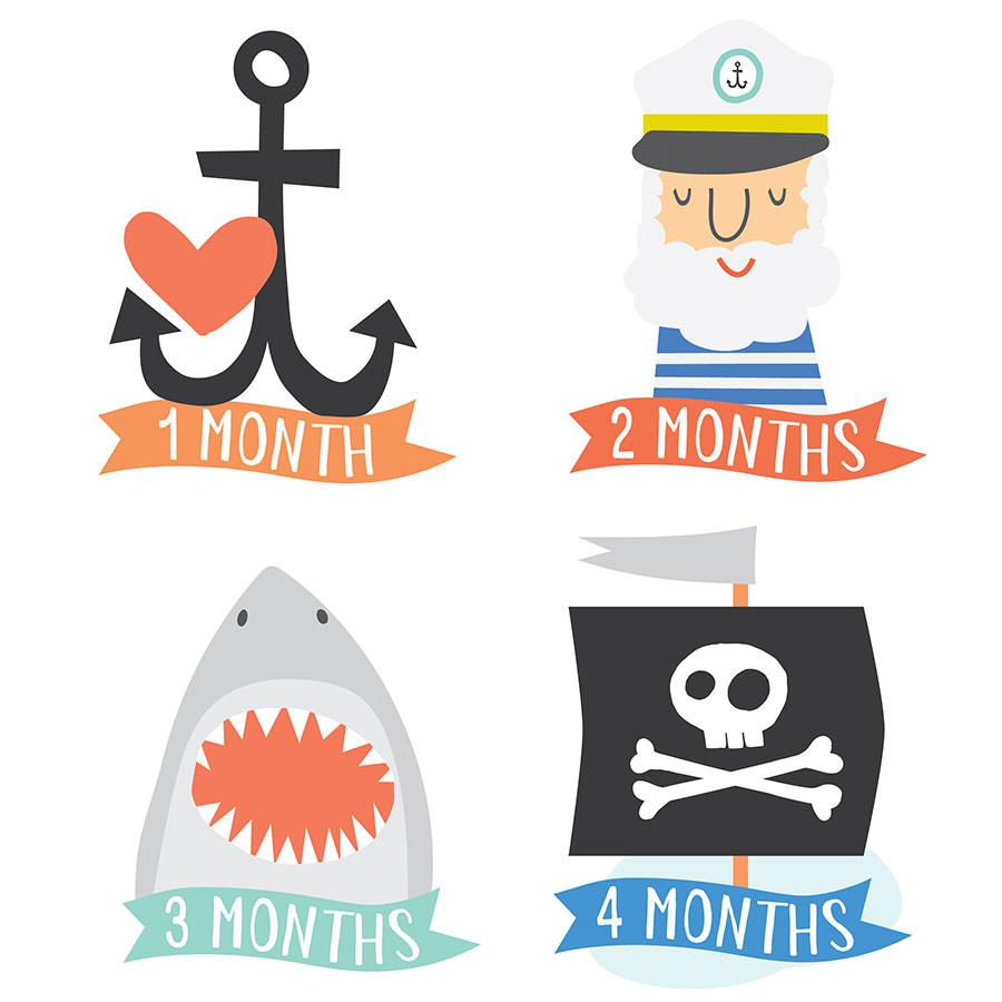 Lucy Darling Little Captain Monthly Stickers