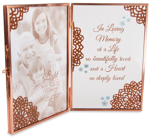 "Memory - 4"" x 6"" Glass Hinged Frame by Pavilion Gifts La Boutique"