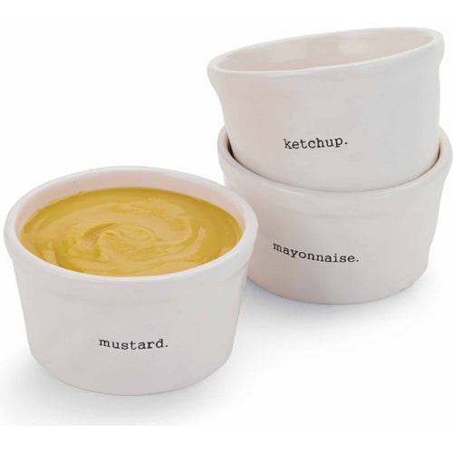 Stamped Ceramic Ramekin by Mud Pie