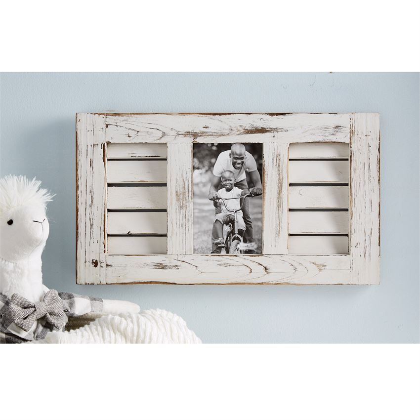 Mud Pie Wood Shutter Picture Frame 2 Sizes