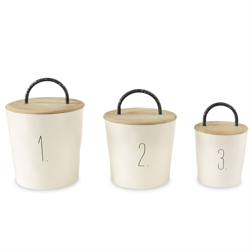 BISTRO CANISTER SET by Mud Pie La Boutique