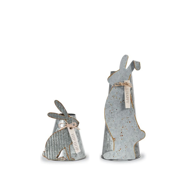 Bunny Tin Vases by Mud Pie